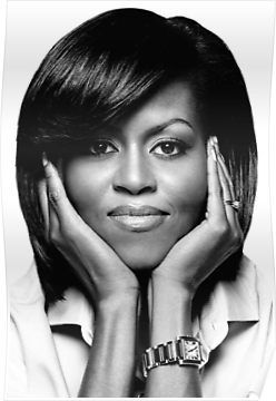 michelle obama poster by martstore