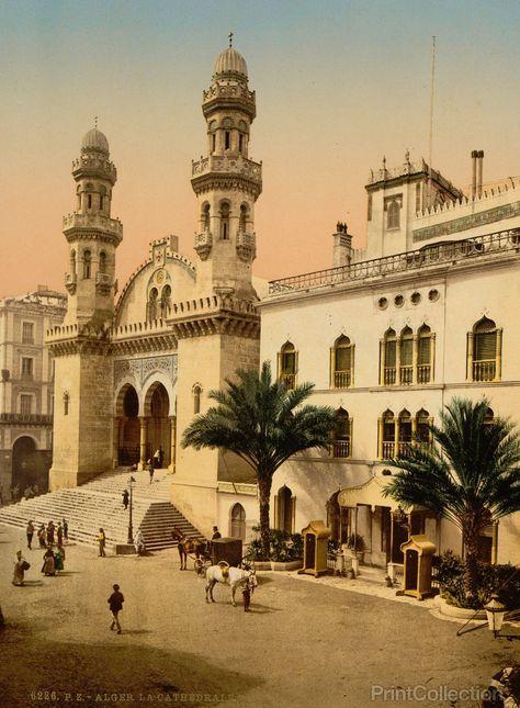 Palais D Hiver Du Gouverneur Et La Cathedrale Algiers Algeria
