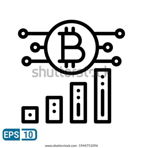 Bitcoin Icon Line Style Isolated On Stock Vector (Royalty Free) 1944751096