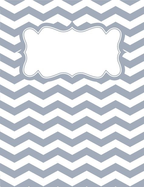 Free Printable Gray And White Chevron Binder Cover Template