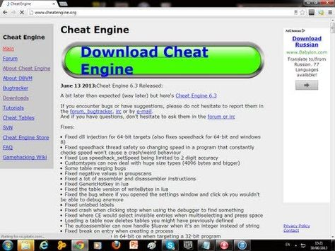 Cheat Engine 6 3 Free Download For Windows 7 Places To Visit