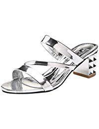 4d5240fc08a Lolittas Summer Sandals for Women Sliver Gold Sparkly Glitter Mid ...