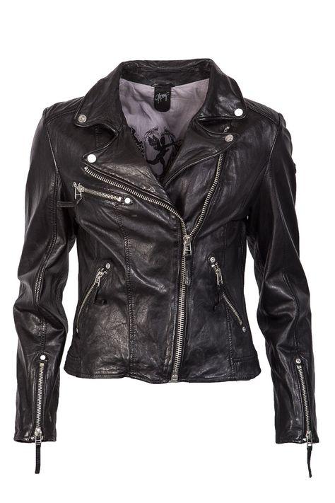 Fashion Bikerjacke von Gipsy in schwarz mit Nieten