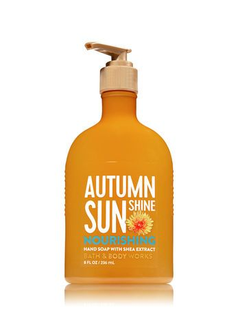 Autumn Sunshine Hand Soap With Shea Extract Bath And Body Works