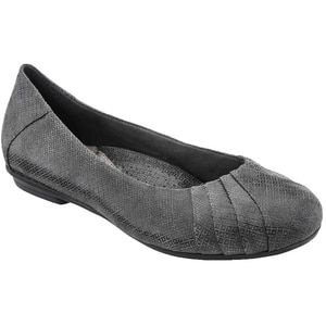 6fae22bb9bd2a Earth Women's Bellwether Flat Dark Grey Printed Suede | Earth ...