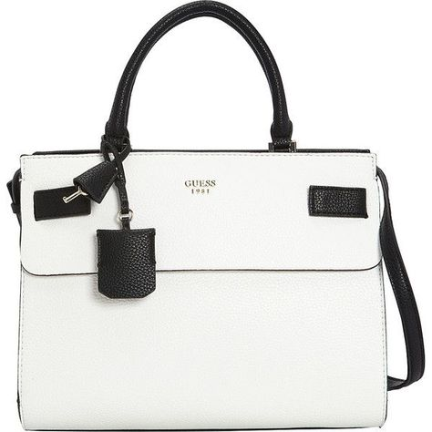 GUESS Cate Satchel (8455 RSD) ❤ liked on Polyvore featuring