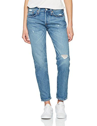 outlet store 61bd3 d8a29 Levi's Damen Straight Jeans 501 Taper Blau (Over The Edge ...