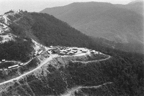 Vietnam War: 1967 DA NANG Monkey Mountain: Aerials shots of U.S. positions on Monkey Mountain.