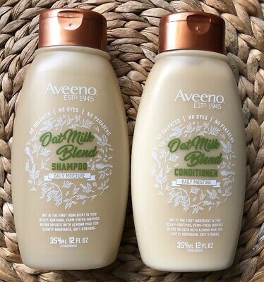 Aveeno Scalp Soothing Oat Almond Milk Blend Shampoo Conditioner Set 12 Fl Oz Ebay Good Shampoo And Conditioner Shampoo Free Shampoo
