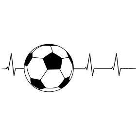Fussball Herzschlag F R Alle Den Ihr Herz F R Fussball Schl Gt Ein Herzschlag In Form Eines Fussballspielers Football Tattoo Soccer Pictures Soccer Shirts