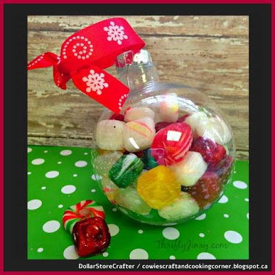 Dollar Store Crafter Hard Candy Holiday Ornament Using Dollar
