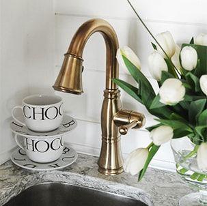 Beautiful Delta Cassidy Bar Faucet In Champagne Bronze Kitchen Faucet Gold Kitchen Faucet Bar Sink Faucet