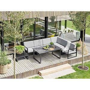 Kettler Ocean Modular Endmodul Rechts Aluminium Inklusive Kissen Anthrazit Hellgrau Meliert Loungemobel Garten Lounge Mobel Terasse Loungeecke Garten