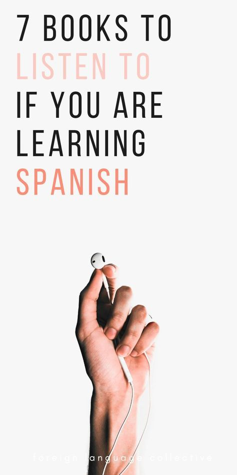 These are 7 audiobooks for those learning Spanish and looking to improve their listening skills. These are 7 audiobooks for those learning Spanish and looking to improve their listening skills. Learn Spanish Free, Learning Spanish For Kids, Learn To Speak Spanish, Learn Spanish Online, Spanish Language Learning, Learn A New Language, Teaching Spanish, Learning Italian, Teaching French