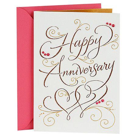 Hallmark Signature Anniversary Card For Couple Happy Anniversary Anniversary Cards For Couple Anniversary Card For Parents Happy Anniversary Cards