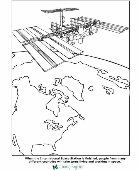 International Space Station Coloring Pages Space Coloring Pages