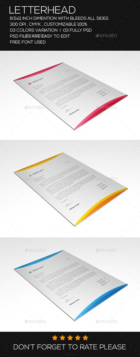 Presentation Folder Design Template - Stationery Print Design - psd letterhead template