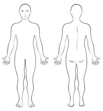 Blank Body Chart Fonderntanacountryinn