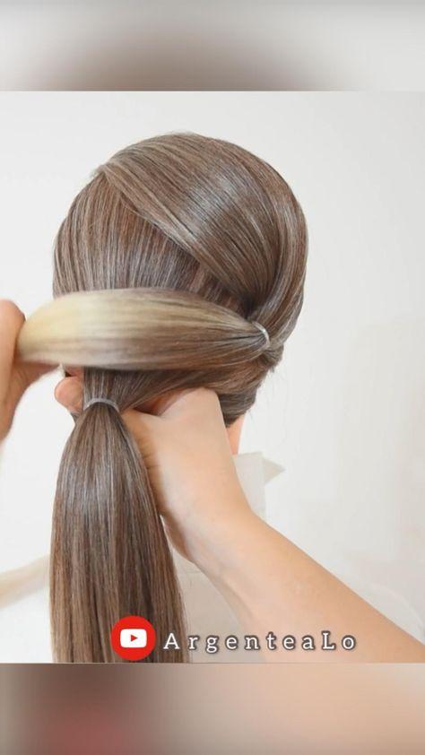Super Easy Updo for long hair! �