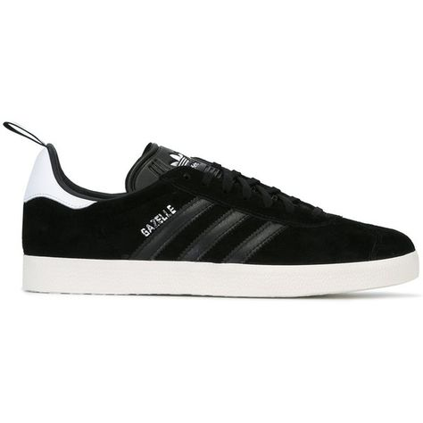 info for bdb1d 356ba Adidas Originals  Gazelle  special edition sneakers ( 118) ❤ liked on Polyvore  featuring shoes, sneakers, black, black leather trainers, lace up shoes, ...