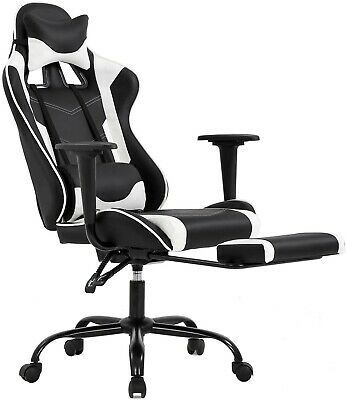 Bestoffice Fdw Hl Oc468 White Ergonomic Racing Style Adjustable Office Gaming In 2020 Ergonomic Office Chair Pc Gaming Chair Racing Chair