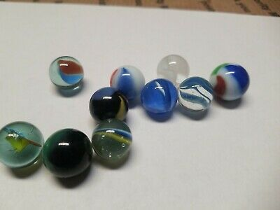 Vintage Lot Of 10 Marbles Glass Nice Look Free Shipping Rare Nice In 2020 10 Things Ebay Rare