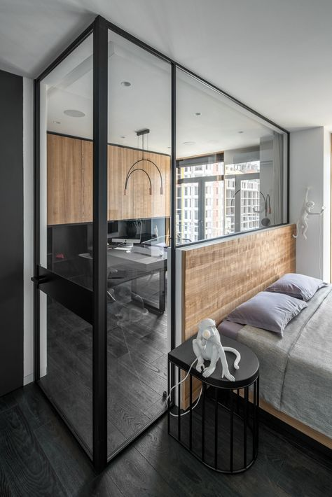 Two Apartments Merge into a Modern Apartment for a Family in Ukraine - Design Milk