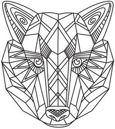 Coloring Pages For Adults Patterns Wolfs Google Leit Geometric Coloring Pages Animal Coloring Pages