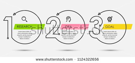 Vectorsicon Com Download Vector Icons Thin Line Minimal Infographic Design Template With Ico Infographic Design Template Infographic Design Flow Chart Design
