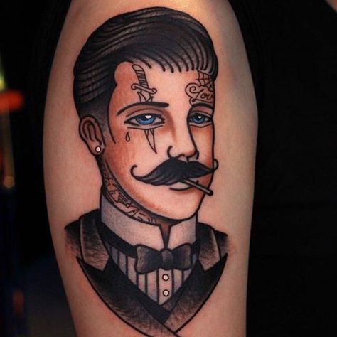 Tattooed Gentleman by @mickgore at @gore.tattoo in Taoyuan, Taiwan. #facetattoo #tattooedgentleman #mickgore #goretattoo #taoyuan #taiwan