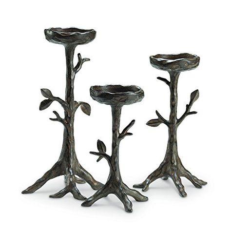62125f563f2f6 Viridian Bay Mimosa Ridge Collection Madeira Pillar Candleholders ...