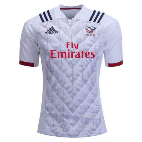 56fc9fb6768 USA Rugby Jersey White ADIDAS 2019 SHIRT MENS 2018 NATIONAL RUGBY UNION  TEAM RUGBY