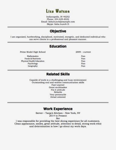 Pin On Resume Examples No Experience