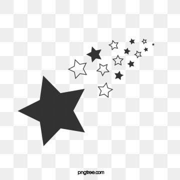 Estrellas Blancas Y Negras Cola Celebrando Plano Png Y Vector Para Descargar Gratis Pngtree Black And White Stars Black And White Elements