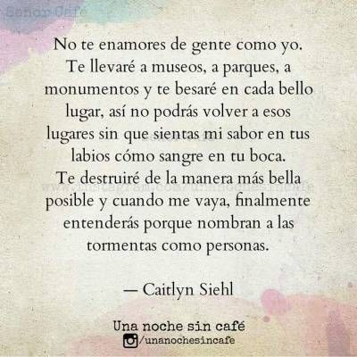 Una Noche Sin Cafe Tumblr Noche Sin Cafe Frases De Amor