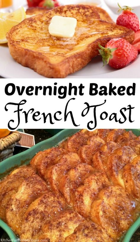 Baked French Toast Casserole, French Toast Bake, French Toast Caserole, Baked French Toast Overnight, Bread For French Toast, Easy Baked French Toast, Great French Toast Recipe, French Toast Recipes, French Toast Slow Cooker