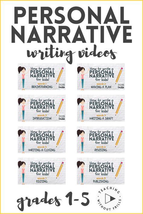 Narrative Writing Prompts, Personal Narrative Writing, Paragraph Writing, Personal Narratives, Writing Lessons, Writing Practice, Teaching Writing, Writing Rubrics, Opinion Writing