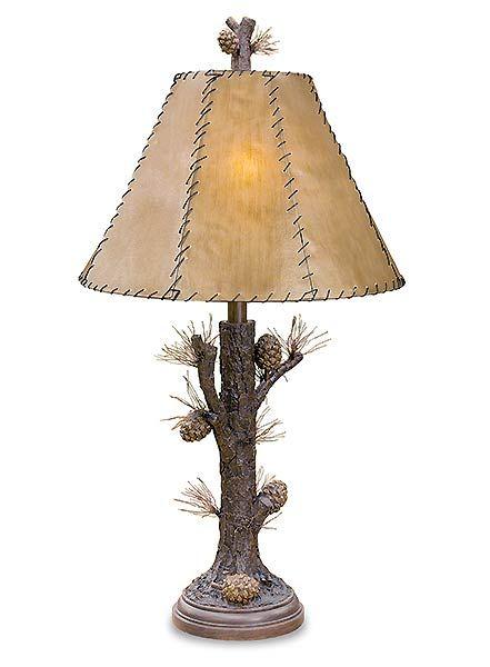 Pine Cone Table Lamp Lamp Table Lamp Rustic Lamps