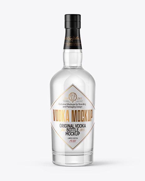Download Vodka Bottle With Wooden Cap Mockup In Bottle Mockups On Yellow Images Object Mockups Mockup Free Psd Vodka Mockup PSD Mockup Templates
