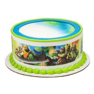 Teenage Mutant Ninja Turtles Cake Strips Licensed Edible Cake Topper 8414 Ninja Turtle Cake Teenage Mutant Ninja Turtle Cake Turtle Cake