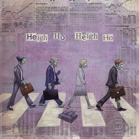 Heigh Ho by Jason Kotecki. #zombies #beatles #work #abbey road