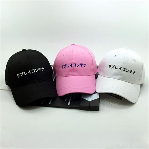 782ba50ab4c New Letter Japanese word Baseball Caps Women Men Adjustable Hip Hop Hats  Casquette Chapeau Homme Gorra Flat Brimmed Hats