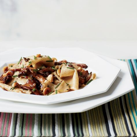 Toasted Fazzoletti with Chanterelles and Hazelnuts | Food & Wine