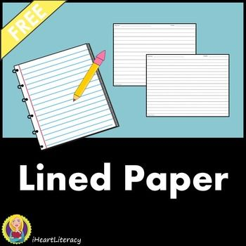 This is simply lined paper that students can use for assignments - lined paper for writing