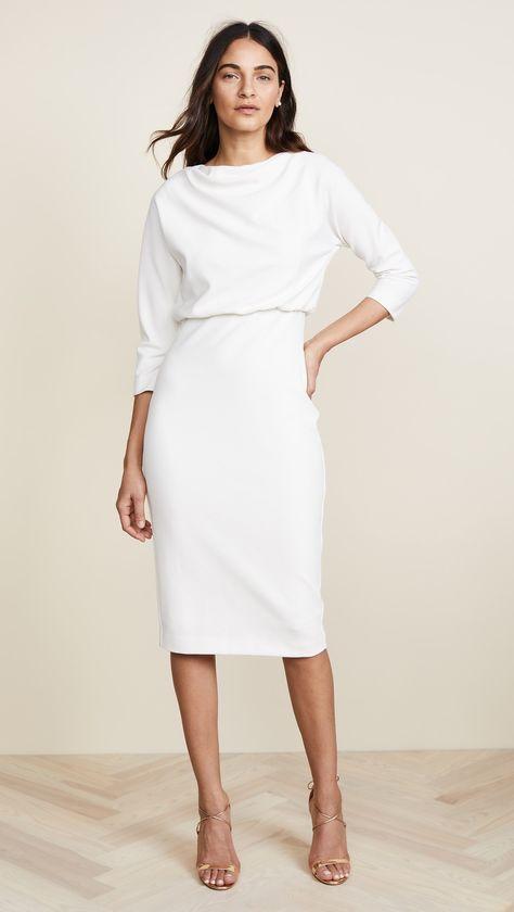 Badgley Mischka Collection Long Sleeve Dress | SHOPBOP