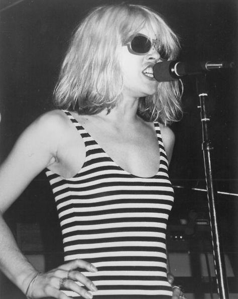 Deborah Harry, lead singer from Blondie