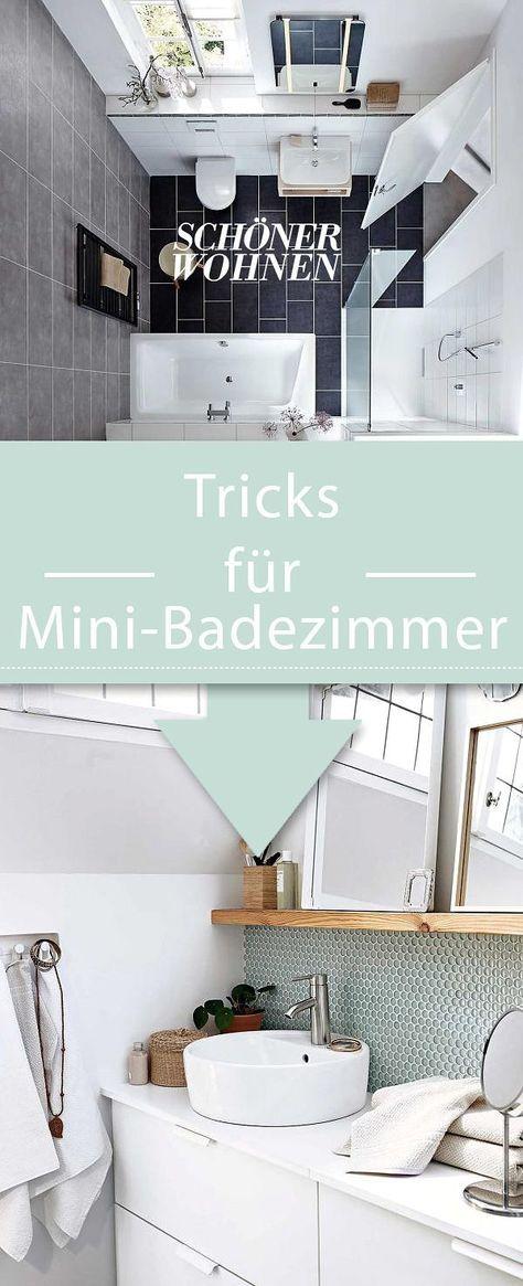Minibad: Ideen zum Einrichten und Gestalten | Bathroom in ...