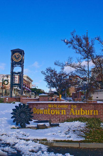 Downtown Auburn, California in the snow  | Halloween