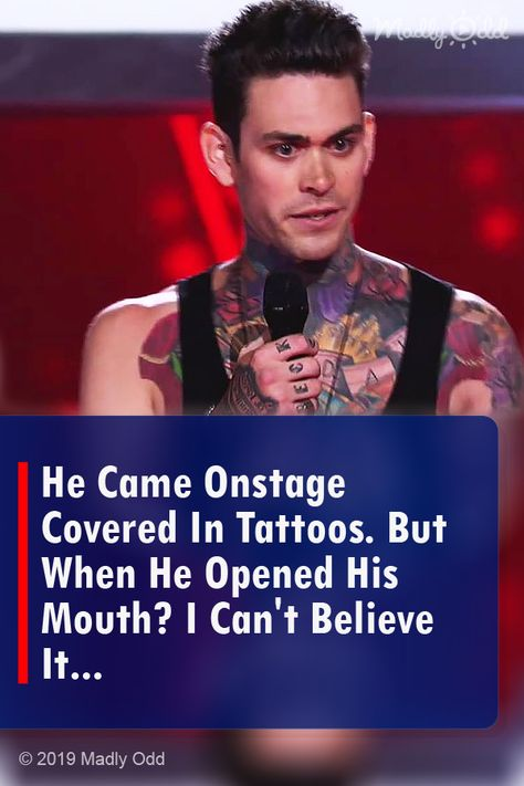 He Came Onstage Covered In Tattoos. But When He Opened His Mouth? I Can't Believe It…