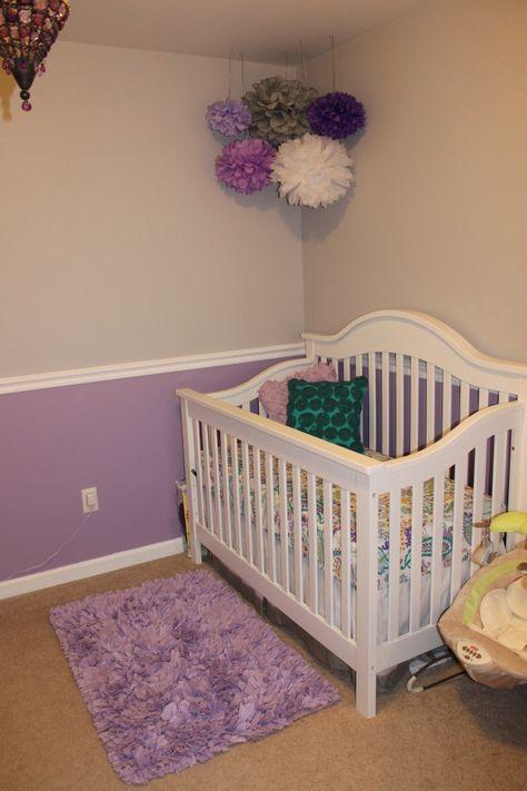 Gray Nursery Purple Baby Rooms